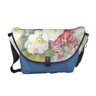 Watercolor Roses Bouquet Rikshaw Bag Courier Bags