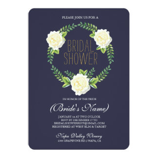 Watercolor Roses Bridal Shower Invitation