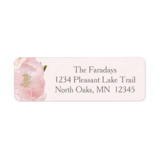 Watercolor Roses Custom Pink Birth Announcement Return Address Label