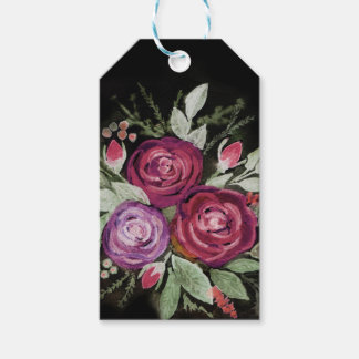 Watercolor roses gift tags