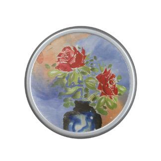Watercolor Roses in Vase Bluetooth Speaker