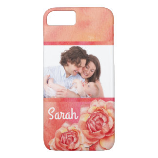 Watercolor Roses, Pink and Yellow iPhone 8/7 Case