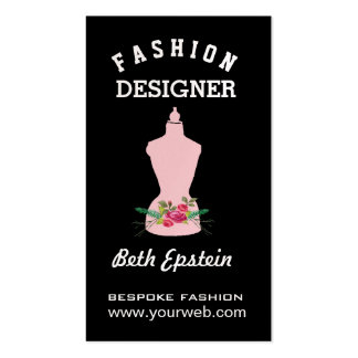 Watercolor Roses Pink Fashion Retro Mannequin Pack Of Standard Business Cards