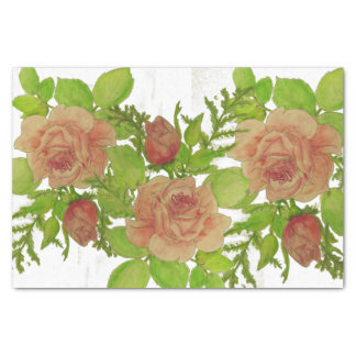 Watercolor Roses Tissue Paper