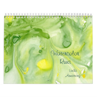 """Watercolor Runs"" Abstract Fine Art Calendar"