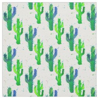 Watercolor Saguaro Cactus Fabric