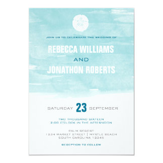 Watercolor Sand Dollar Invitation