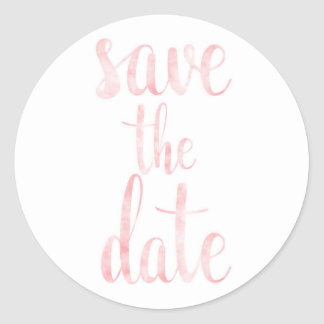 Watercolor save the date stickers