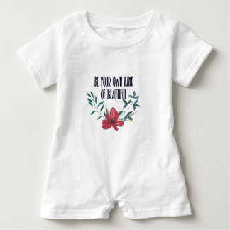 Watercolor sayings baby bodysuit