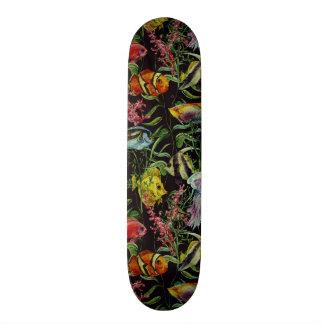 Watercolor Sea Life Pattern 1 Skate Board