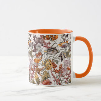 Watercolor Sea Life Pattern 2 Mug