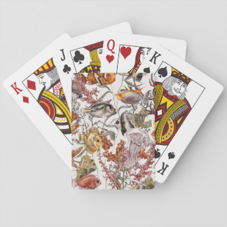 Watercolor Sea Life Pattern 2 Playing Cards