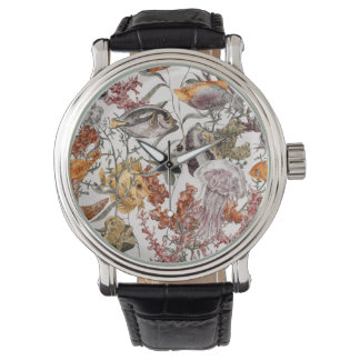Watercolor Sea Life Pattern 2 Watch