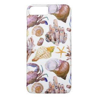 Watercolor Sea Life Pattern 4 iPhone 7 Plus Case