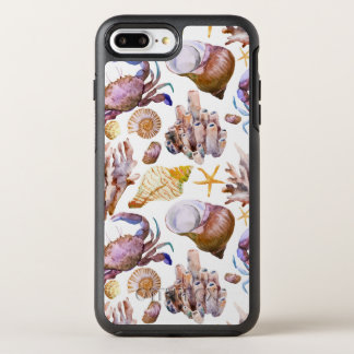 Watercolor Sea Life Pattern 4 OtterBox Symmetry iPhone 7 Plus Case