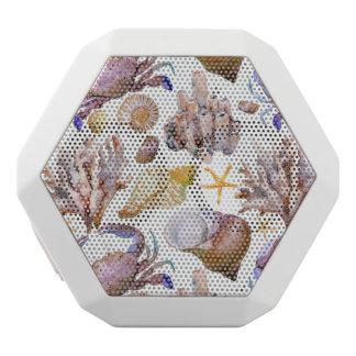 Watercolor Sea Life Pattern 4 White Bluetooth Speaker