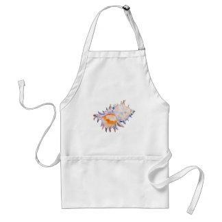 Watercolor sea shell apron