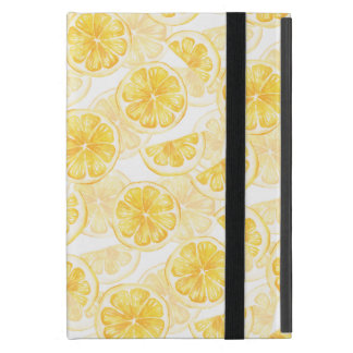 Watercolor seamless pattern with lemon slice /2 case for iPad mini