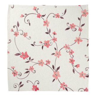 Watercolor seamless pattern with styled spring bandana