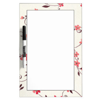 Watercolor seamless pattern with styled spring Dry-Erase boards