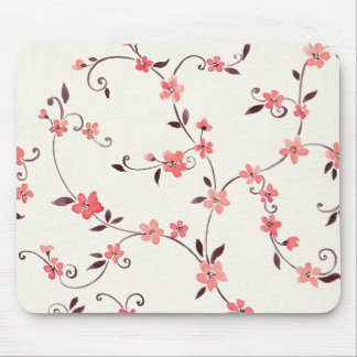 Watercolor seamless pattern with styled spring mouse pad