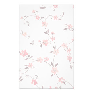 Watercolor seamless pattern with styled spring stationery