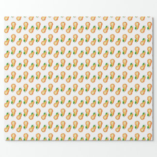 Watercolor seamless pears pattern wrapping paper
