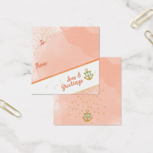 Nautical star business cards business card printing zazzle uk watercolor seas greetings anchor stars gift tags reheart Choice Image