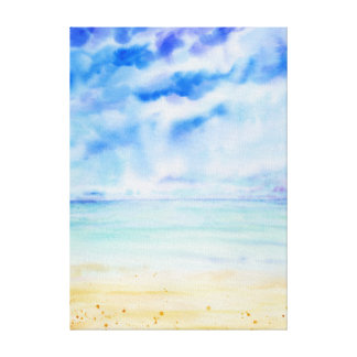 Watercolor Seascape Canvas print