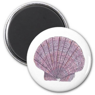 Watercolor Seashell Magnet