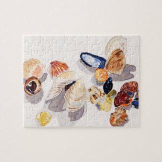 Watercolor Seashell Puzzle