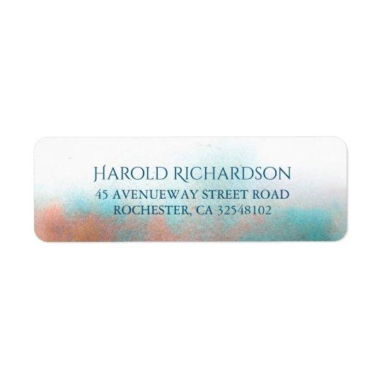 Watercolor Shades Modern Wedding Return Address Label