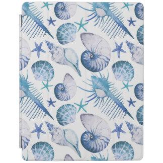 Watercolor Shells iPad Cover