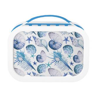 Watercolor Shells Lunch Box
