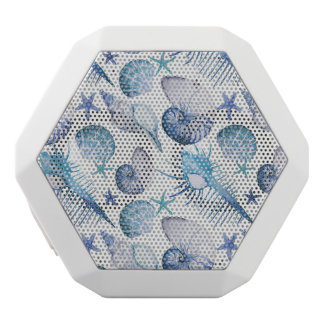 Watercolor Shells White Bluetooth Speaker