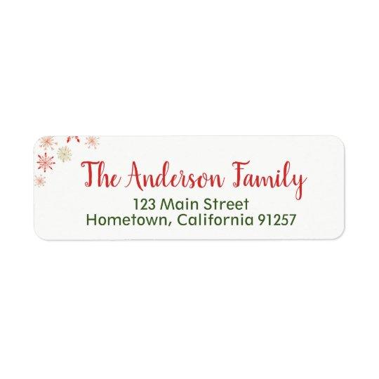 Watercolor Snowflake Address Labels