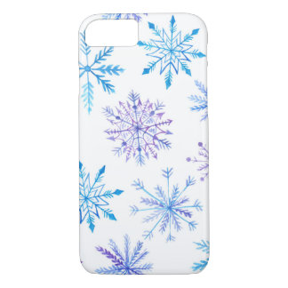 Watercolor Snowflakes Barely There iPhone 8/7 Case
