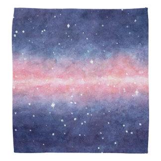 Watercolor Space bandana