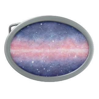 Watercolor Space belt buckle