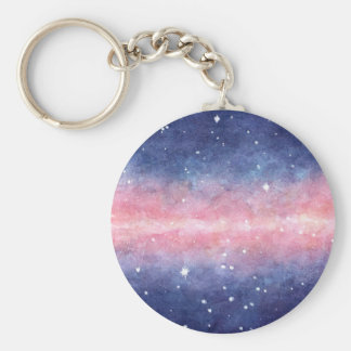 Watercolor Space keychain