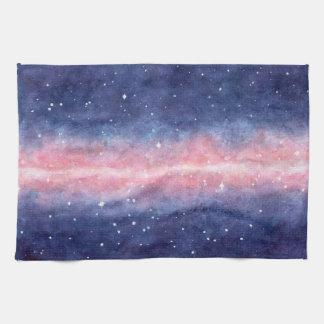 Watercolor Space kitchen towel