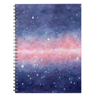 Watercolor Space Notebooks