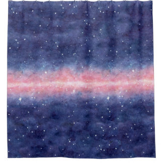 Watercolor Space Shower Curtain