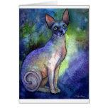 Watercolor Sphynx Sphinx Cat # 2 painting Greeting Card