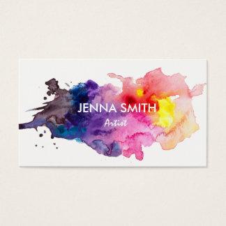 Watercolor Splash Design Artist Business Card