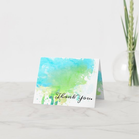 Watercolor Splash Employee Thank You Card Zazzle Co Uk