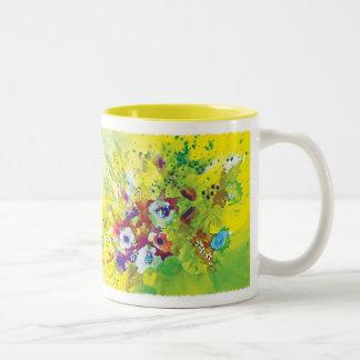 Watercolor Splash Two-Tone Coffee Mug