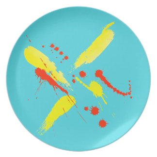 Watercolor Splashes Party Plate