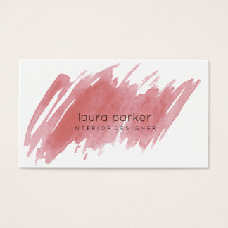 Watercolor Splatter Elegant Abstract Modern Chic Business Card