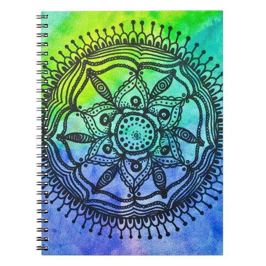 Watercolor Splatter Mandala Notebook. Notebook